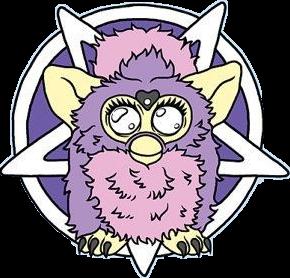290x278 Cute Furby Pastel Goth Pentagram