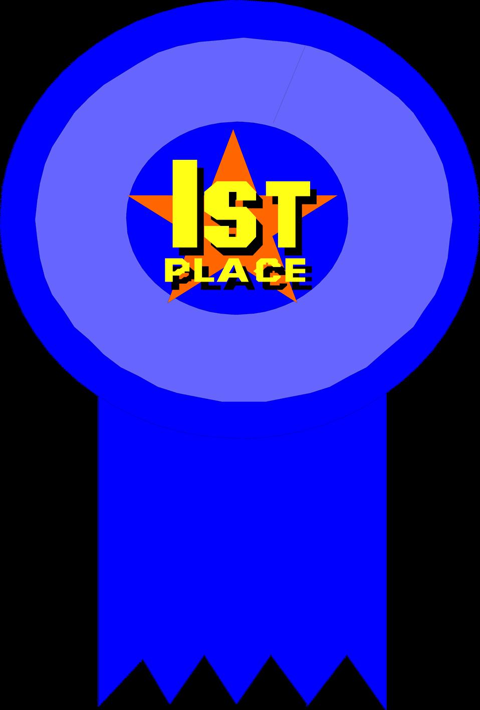 958x1417 1st Place Ribbon Clip Art