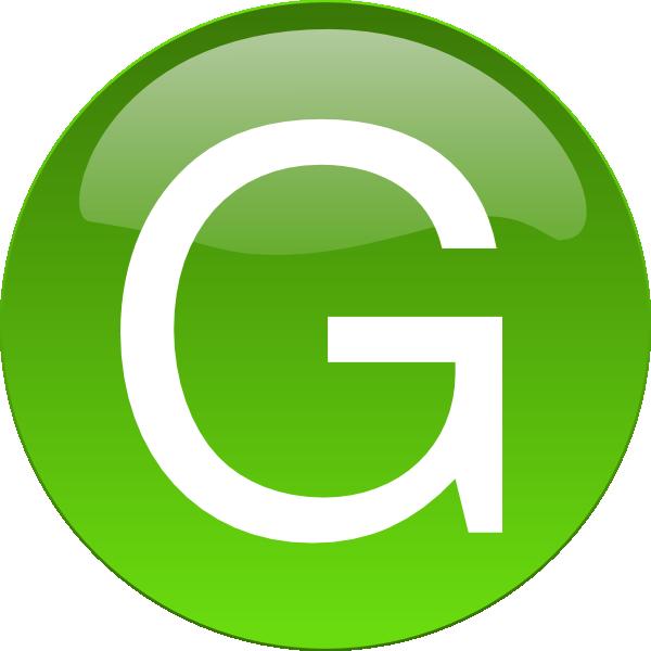 600x600 Green G Clip Art