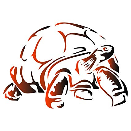 425x425 Tortoise Stencil