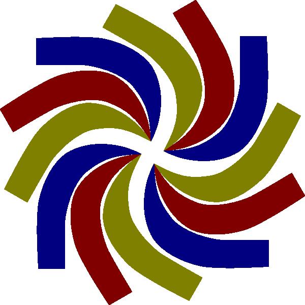 600x600 Coloured Swirl Clip Art