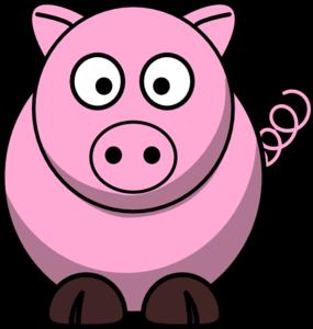 285x300 Pinkie Pig Clip Art