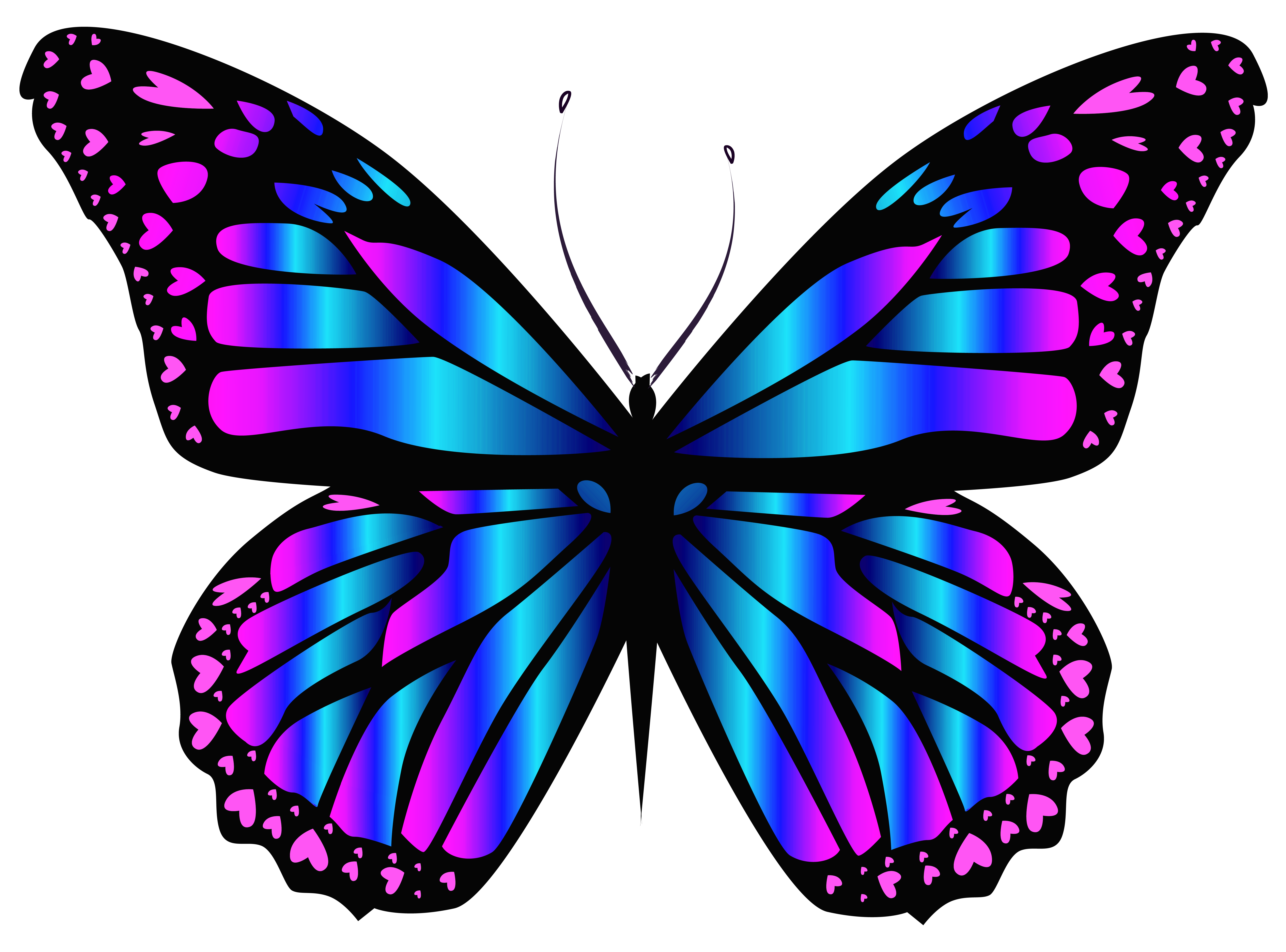 6347x4697 Blue And Purple Butterfly Png Clipar Imageu200b Gallery Yopriceville