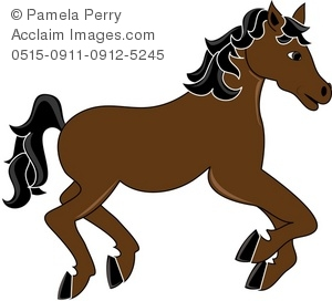 300x272 Clip Art Illustration Of A Horse Galloping