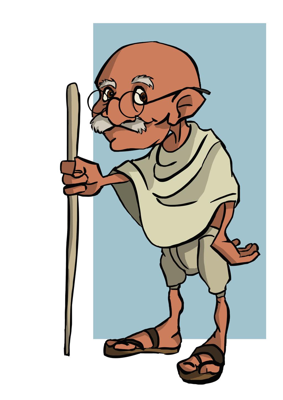 1024x1448 Explore Gandhi Cartoon