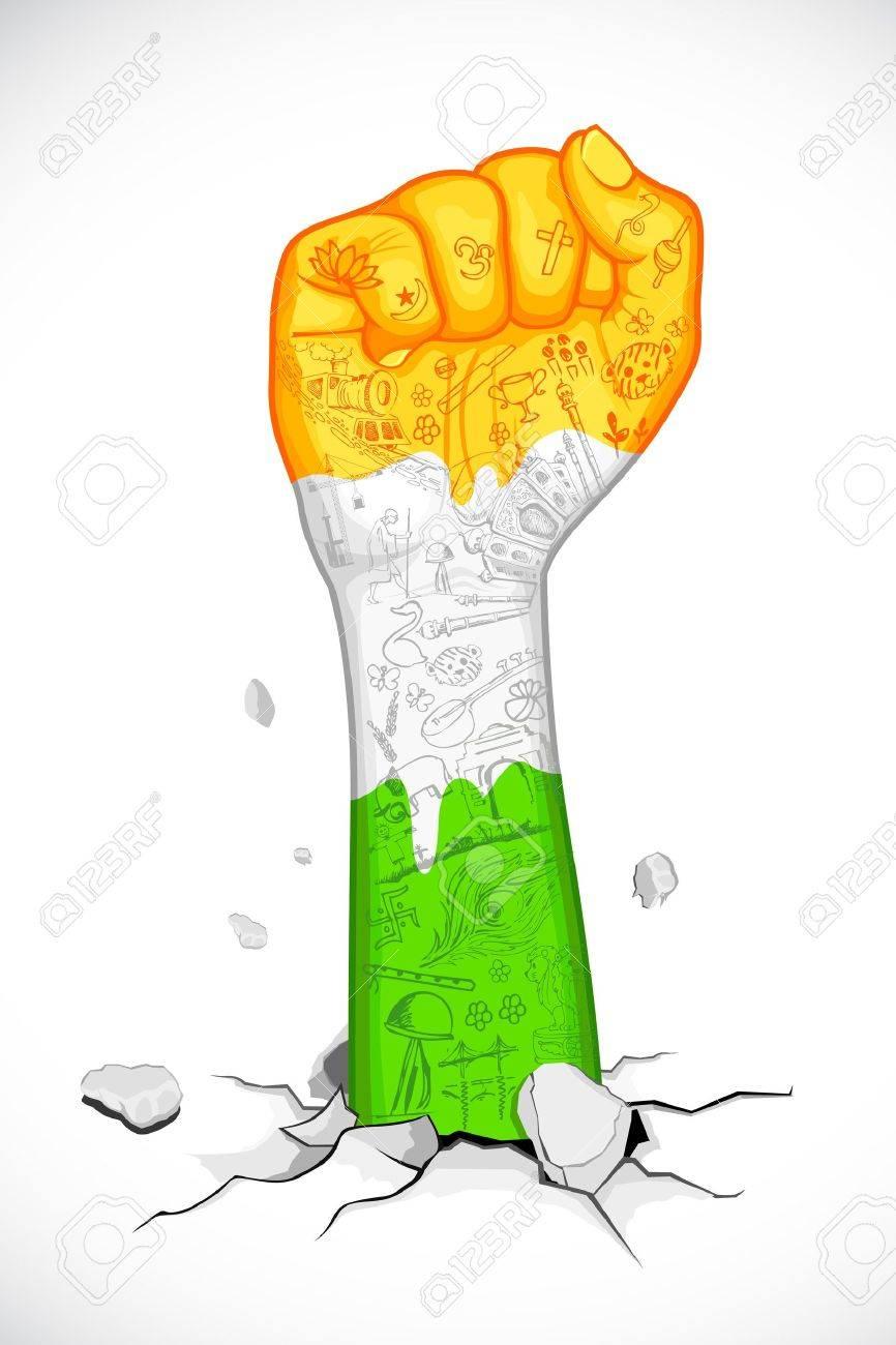 866x1300 Fist Clipart Gandhi