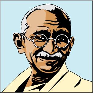304x304 Clip Art India Mahatma Gandhi Color I Abcteach