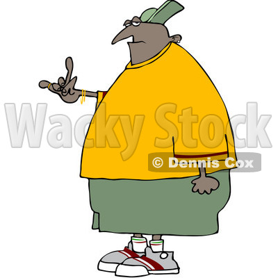 400x400 Clipart Black Gangster Gesturing