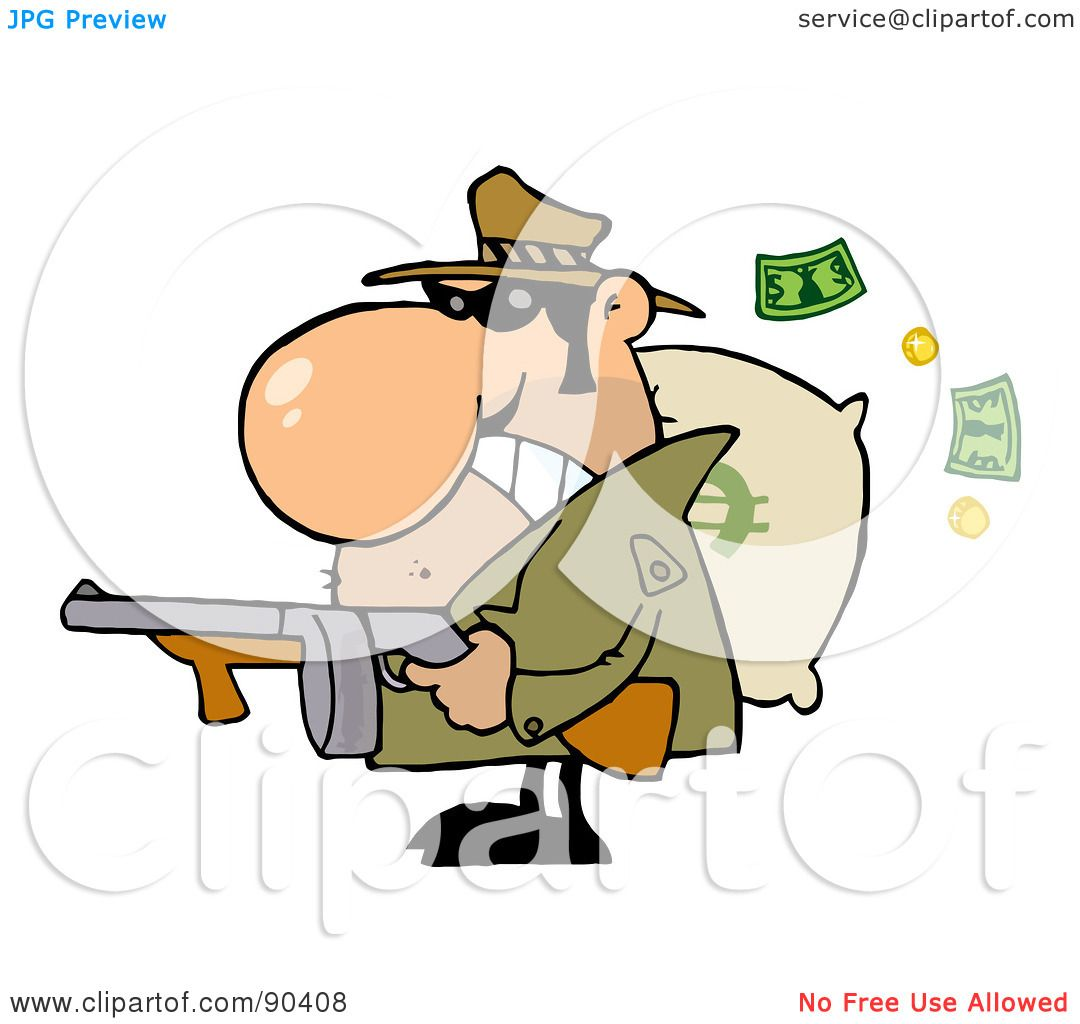 1080x1024 Royalty Free (Rf) Clipart Illustration Of A Tough Mobster Holding