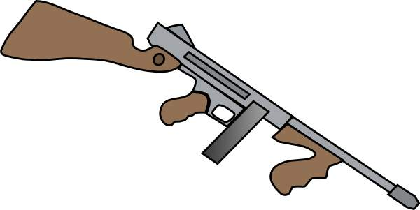 600x301 Assault Rifle Clipart Gangster