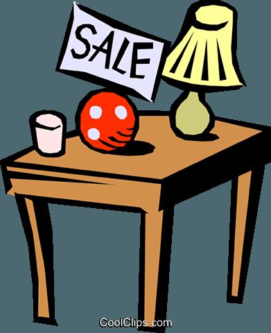 391x480 Garage Sale Royalty Free Vector Clip Art Illustration Hous0695