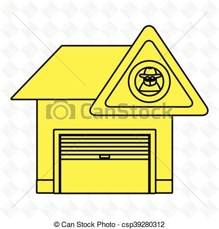450x470 Garage Security Safe Icon Vector Illustration Graphic Vector Clip