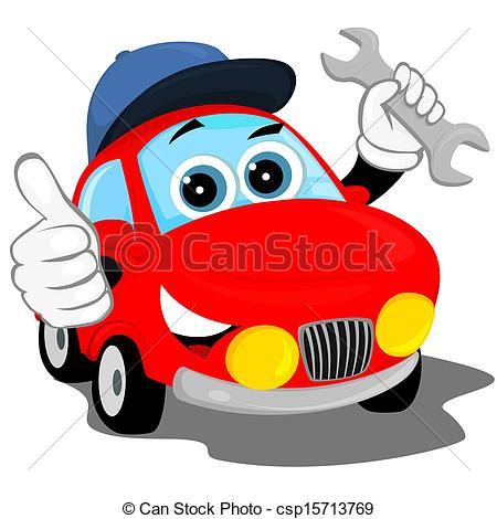 450x470 Car Repair Garage Clipart