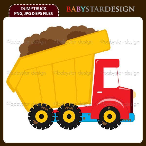 600x600 Dump Truck Clipart Single Instant Download By Babystardesign
