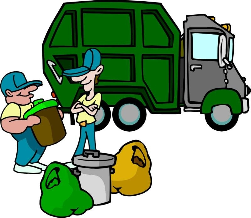 800x694 Garbage Collector Clipart