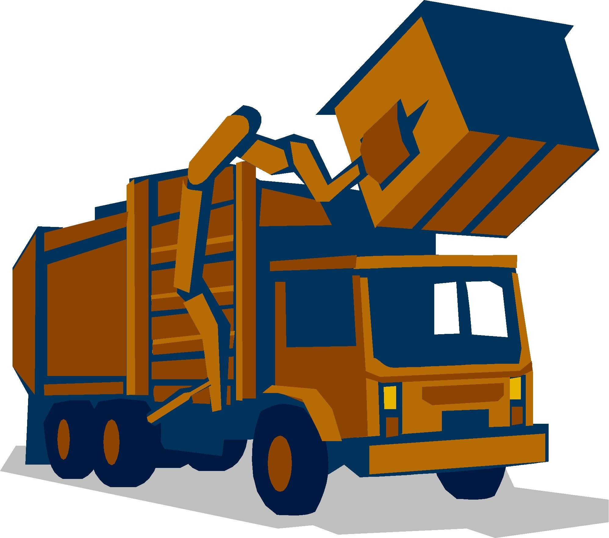 1997x1766 Garbage Truck Clipart Yellow