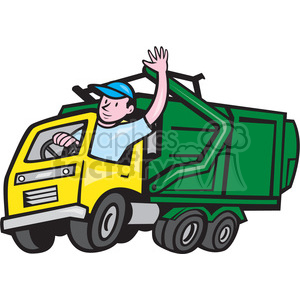 300x300 Garbage Truck Driver Clipart