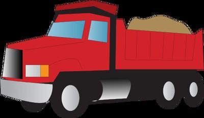 400x233 Red Clipart Dump Truck