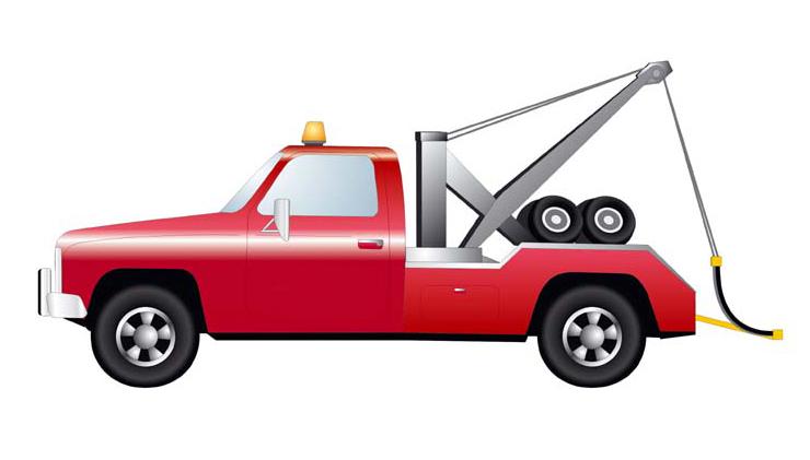 740x421 Tow Truck Vector Clipart