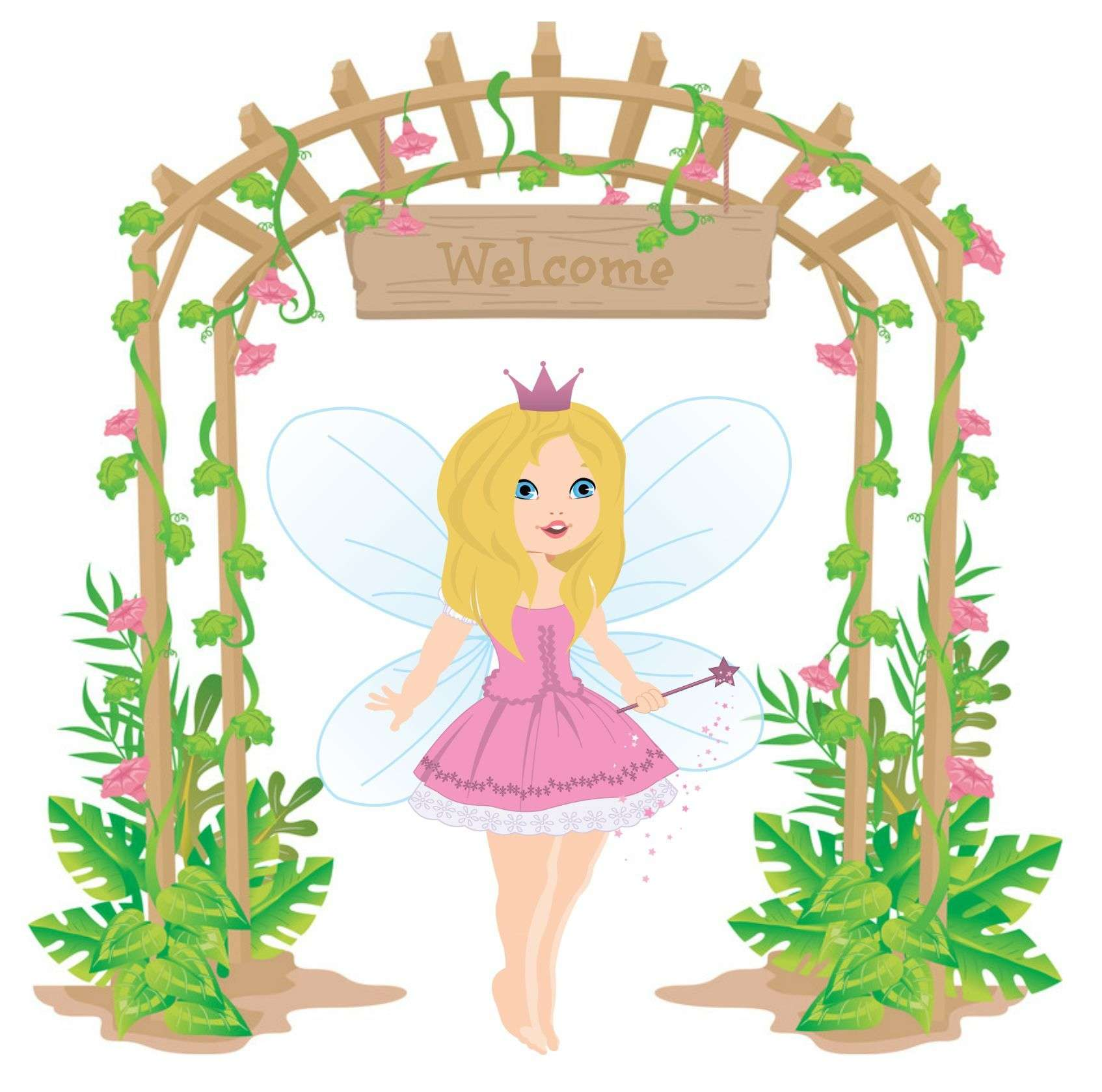 1694x1679 Collection Of Fairy Garden Clipart High Quality, Free