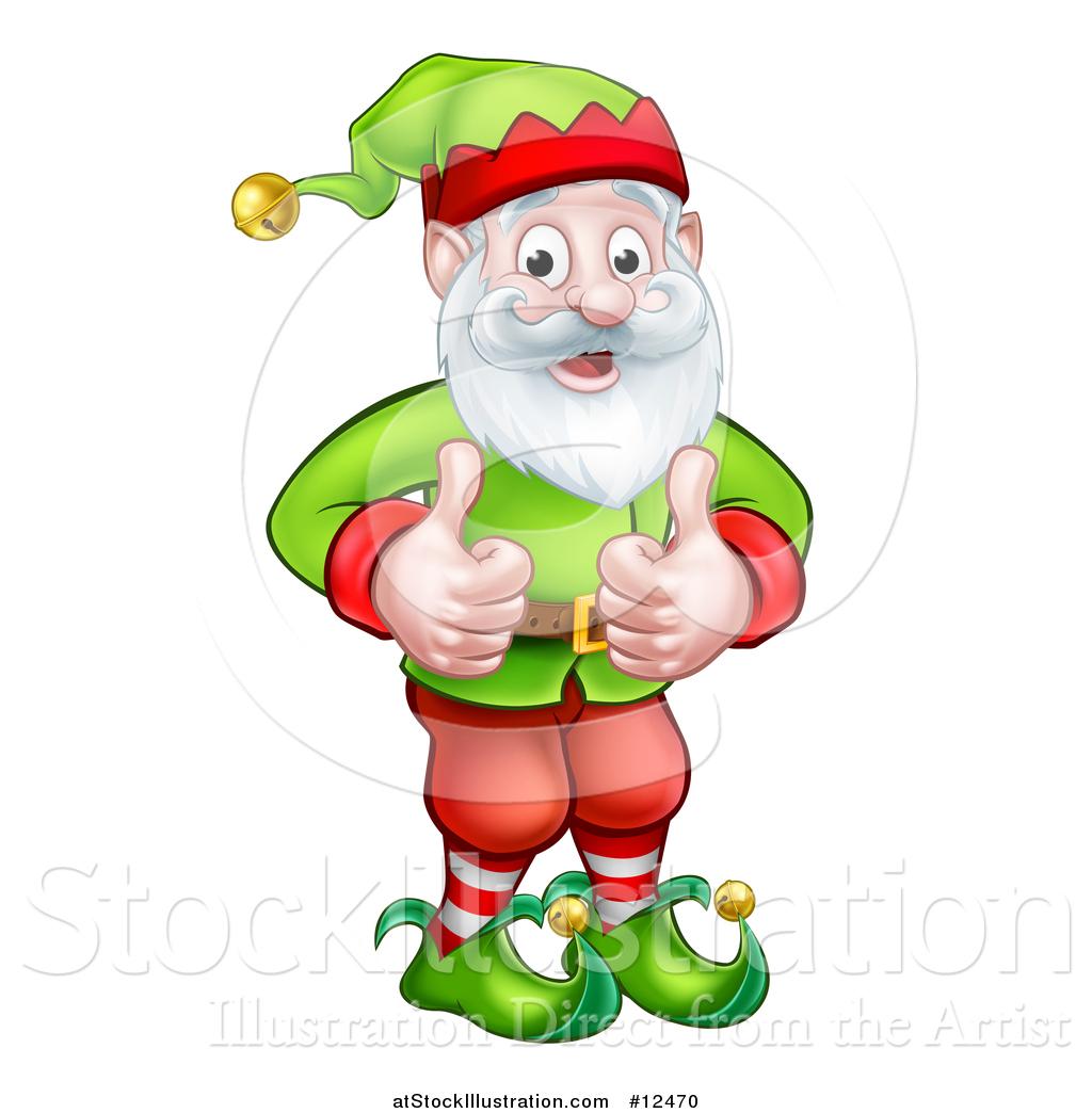 1024x1044 Vector Illustration Of A Happy Garden Gnome Or Christmas Elf