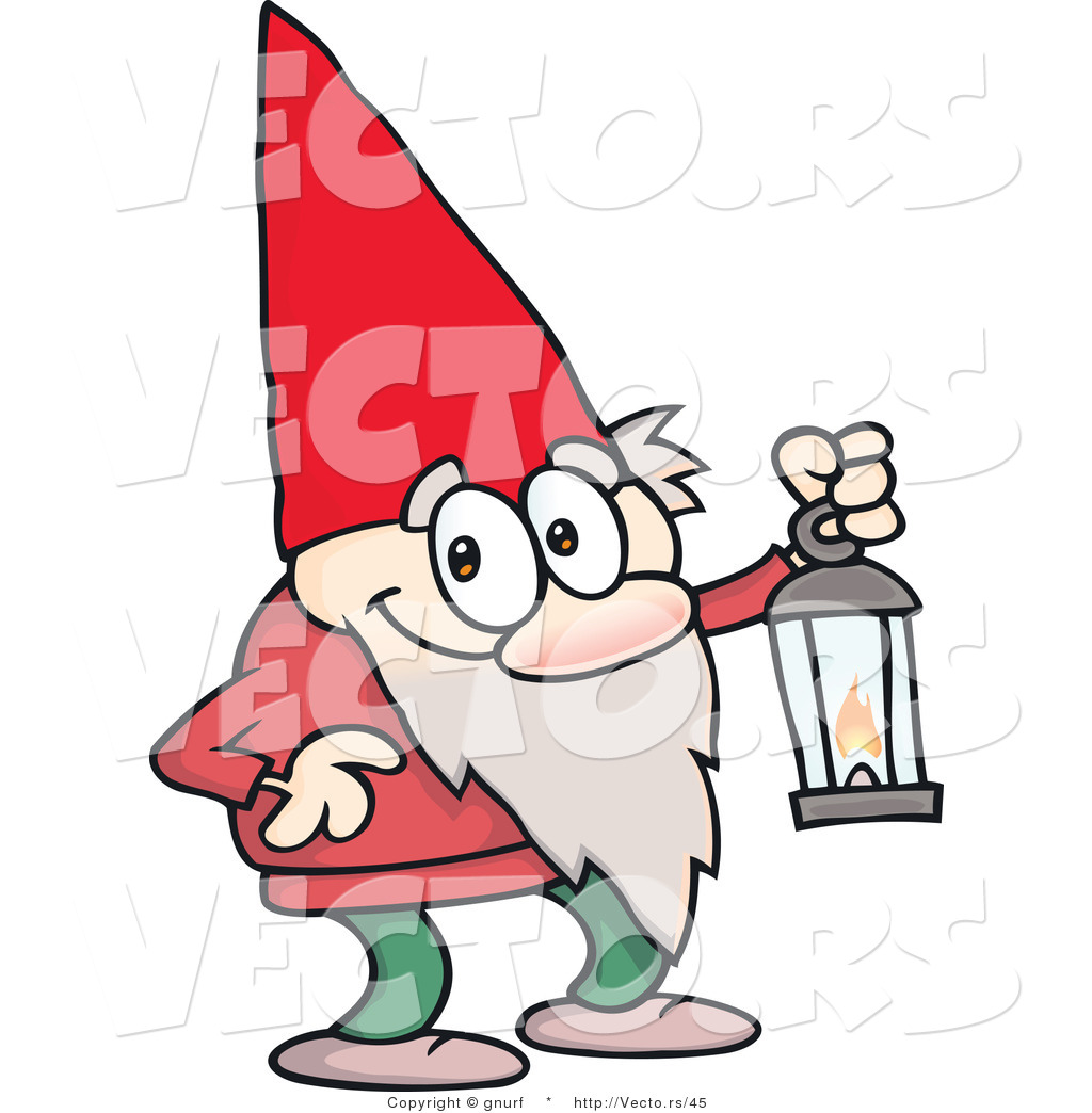 1024x1044 Vector Of A Cute Cartoon Gnome Carrying A Lantern By Gnurf