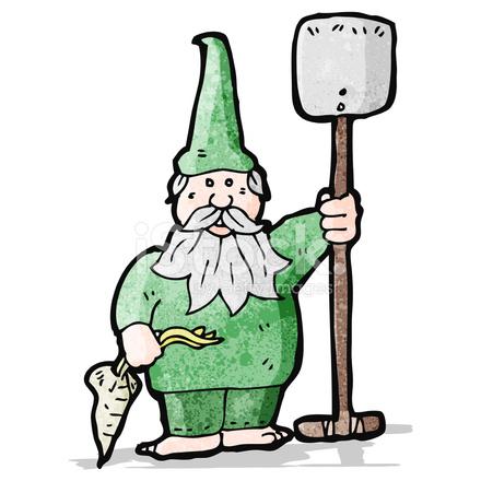 440x440 Cartoon Garden Gnome Stock Vector