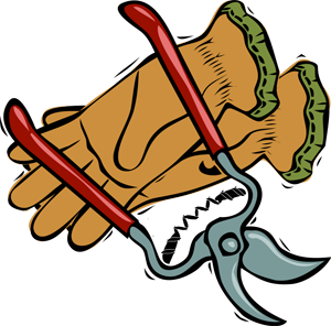 300x296 Gardening Clipart Graphics Of Gardeners And Tools 2