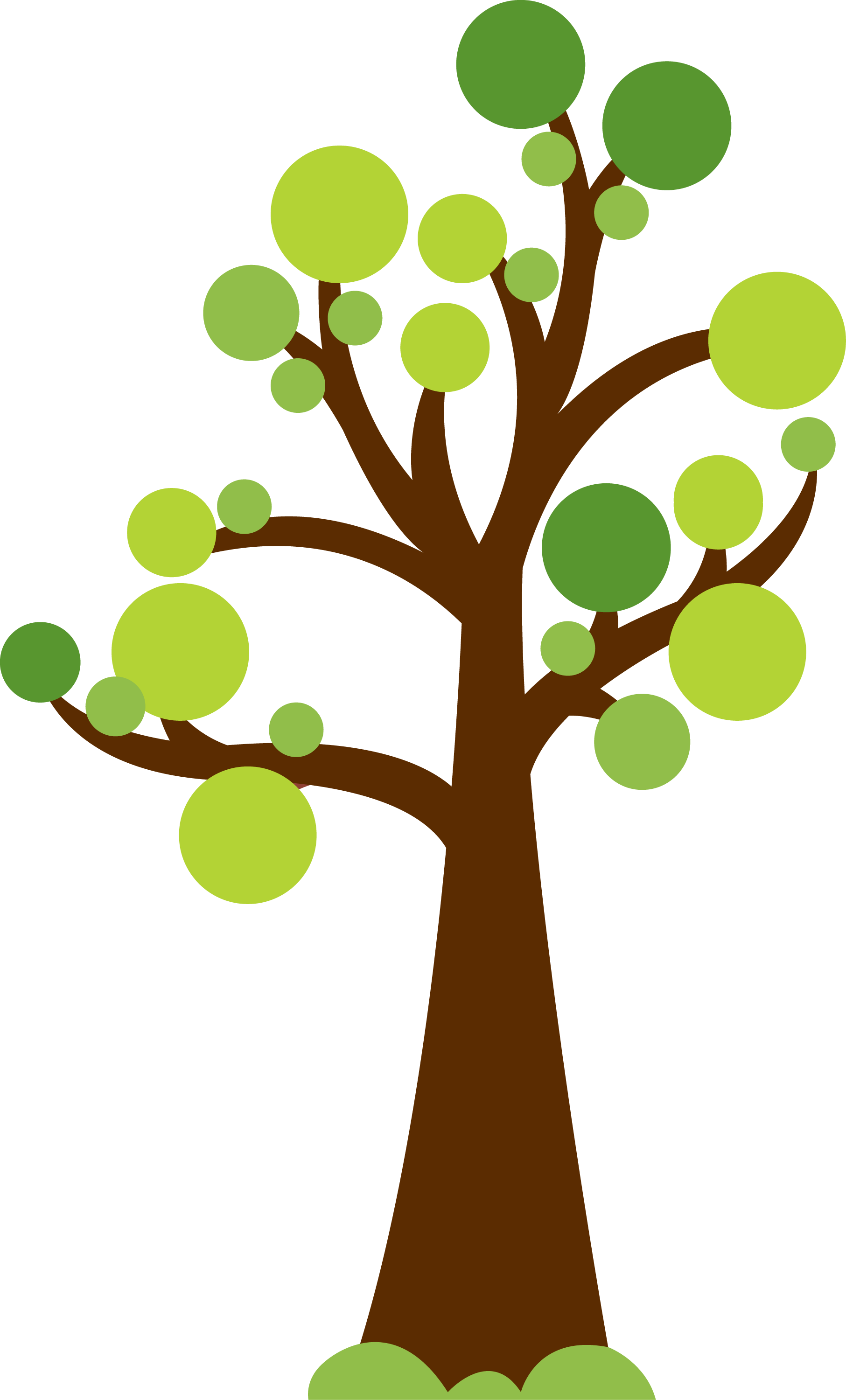 1813x3001 Tree With Circles For Leaves. Cute Image For Summer Or Garden