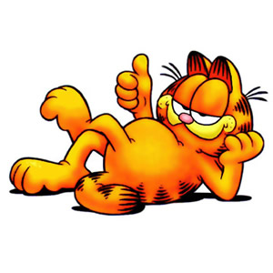300x300 Clip Art Of Garfield The Cat Clipart Panda