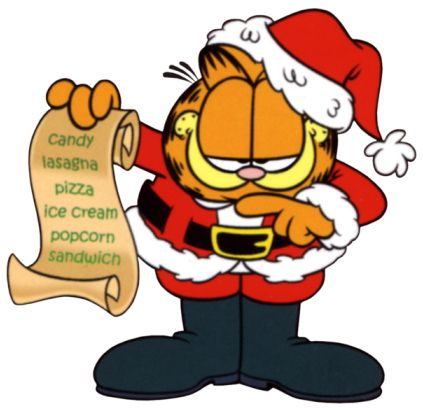 423x408 Collection Of Garfield Christmas Clipart High Quality, Free
