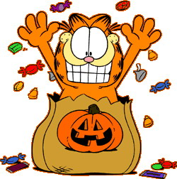 250x252 Garfield Halloween Clipart