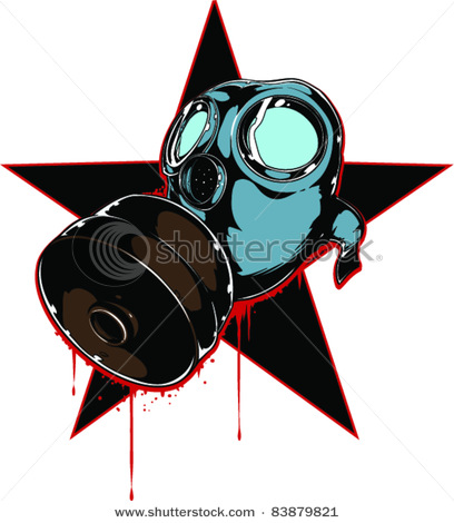 408x470 Gas Mask Clipart Animated