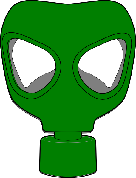 456x594 Gas Mask Green Clip Art