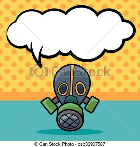 450x470 Gas Masks Color Doodle Vector