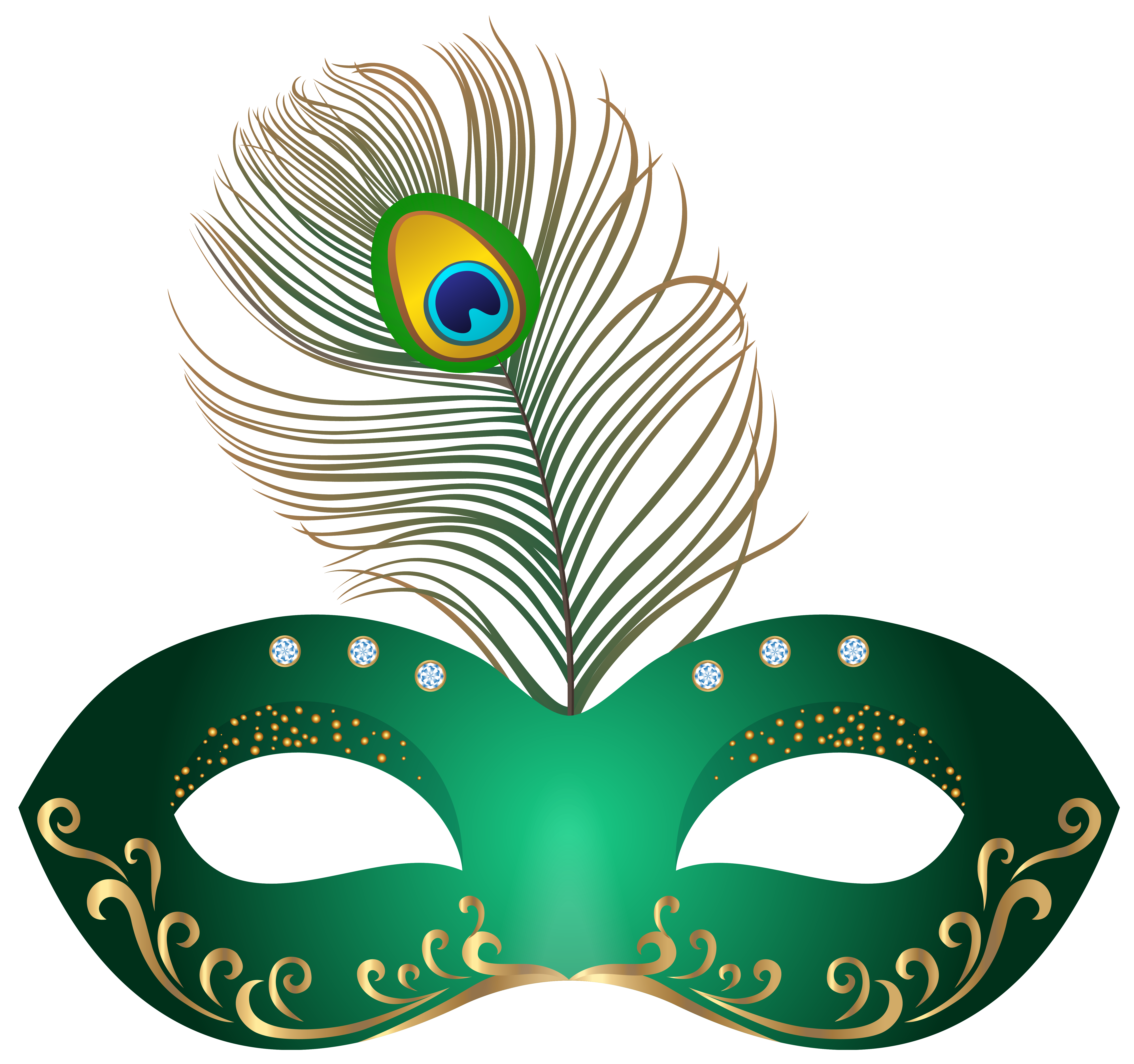 6271x5881 Green Carnival Mask Clip Art Images