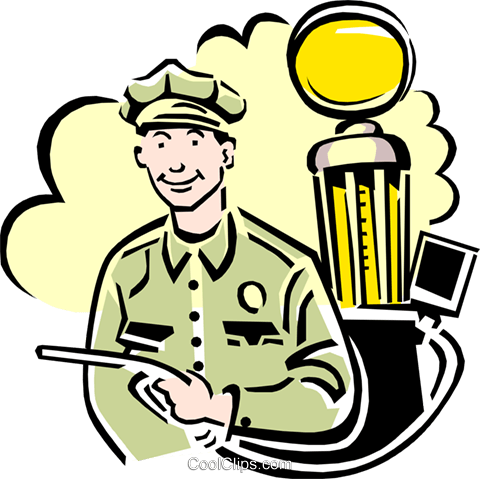 480x479 Gas Station Attendant Royalty Free Vector Clip Art Illustration