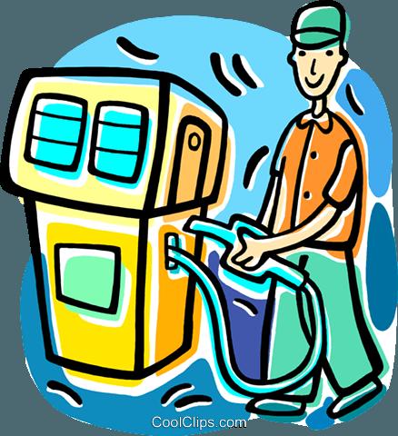 438x480 Gas Station Fill Up Royalty Free Vector Clip Art Illustration