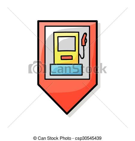 450x470 Gps Gas Station Doodle Vectors