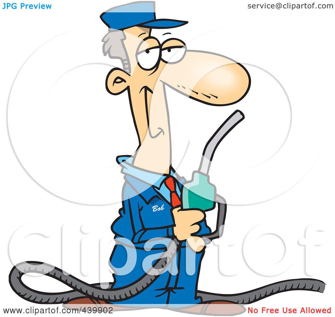 1080x1024 Royalty Free (Rf) Clip Art Illustration Of A Cartoon Gas Station