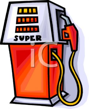284x350 Royalty Free Clip Art Image Super Octane Gas Pump
