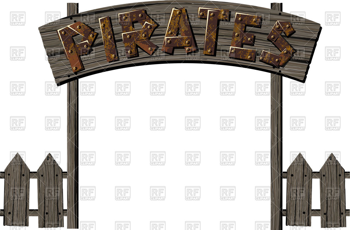 1200x790 Old Wooden Gate In Pirate Camp Royalty Free Vector Clip Art Image