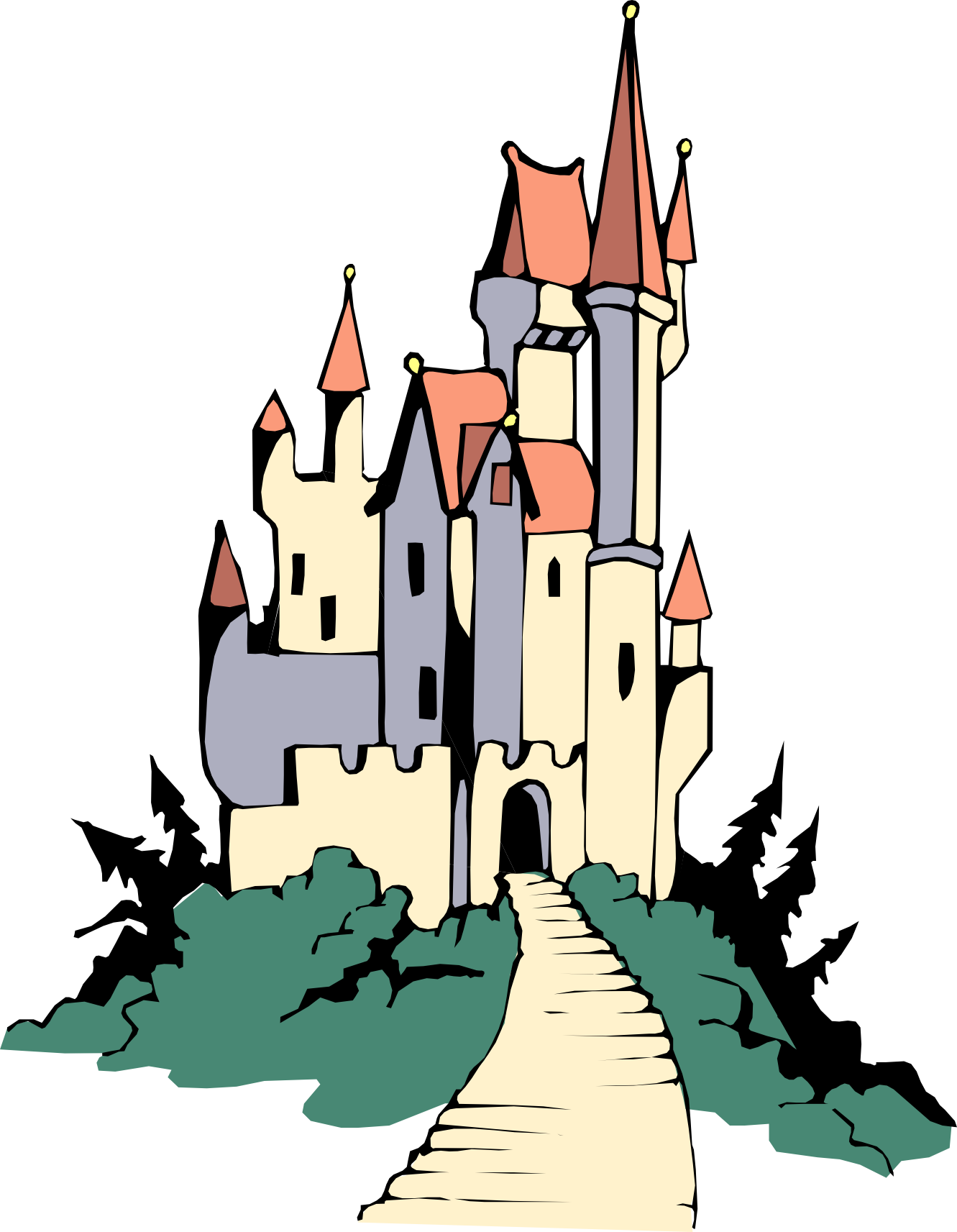 1331x1713 Palace Clipart Vector Clip Art Of A Large Royal Castle