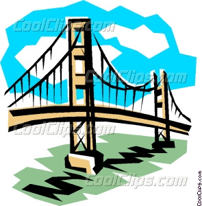 295x300 Bridge Vector Clip Art