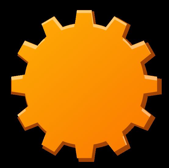 554x550 Gears Clipart Orange
