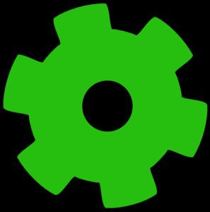 297x300 Green Gear Clip Art Children's Ministry Clip Art
