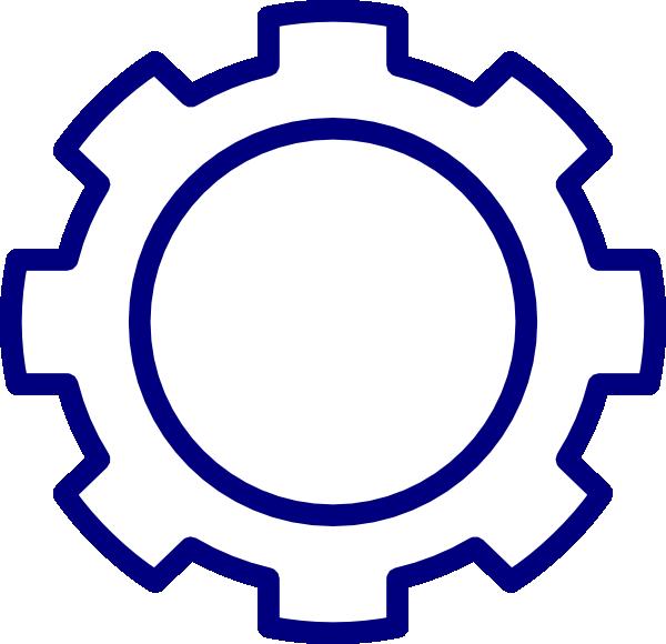 600x580 Blue Gear Clip Art