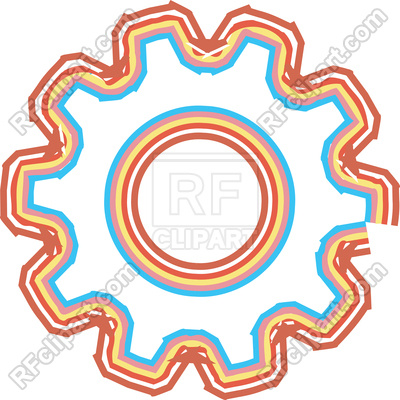400x400 Color Rough Stripes Illustration Of Gear Royalty Free Vector Clip