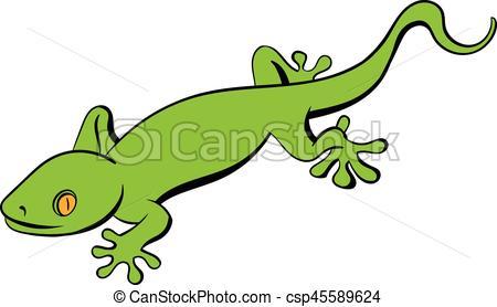 450x278 Green Gecko Lizard Icon Cartoon. Green Gecko Lizard Icon