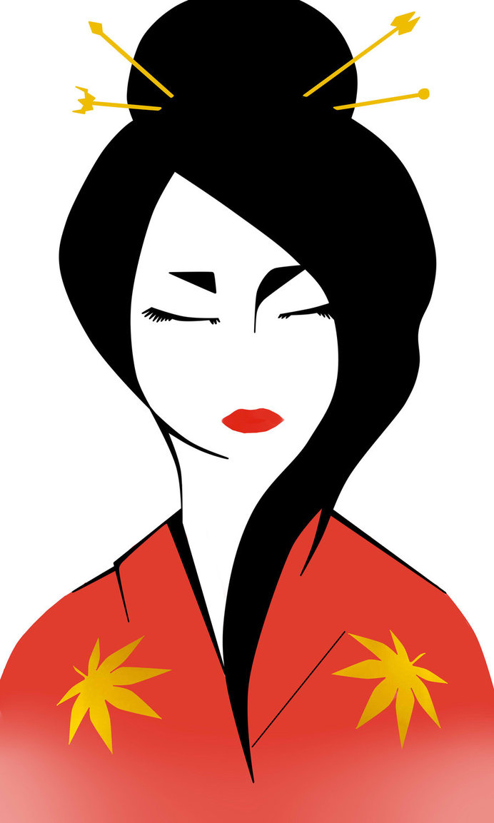 692x1153 Collection Of Easy Geisha Drawing High Quality, Free